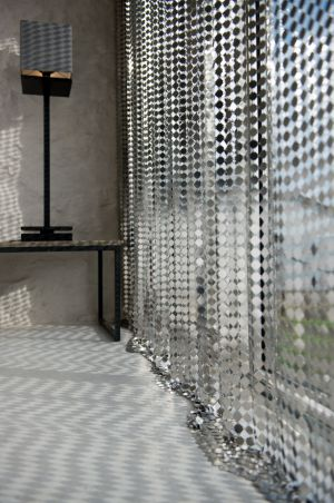 Metal Curtain With Square Plates ...
