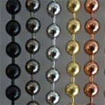 Beaded curtains stainless steel
