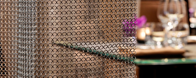 chain mail curtain room divider