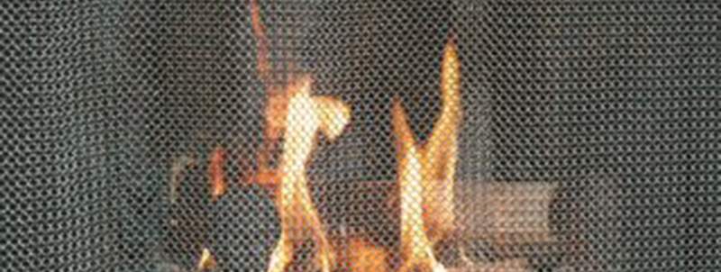 chainmail fireplace screen