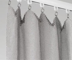 chain mail curtain track system